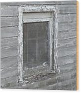 Gray Window Wood Print