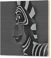 Gray Zebra Wood Print