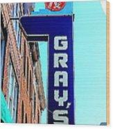 Gray's Rx Wood Print by Anthony Jones