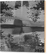 Grayscale Vision Trip Wood Print
