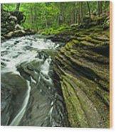 Waterfall - Grayville Everlasting Wood Print