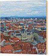 Graz Old Town Wood Print