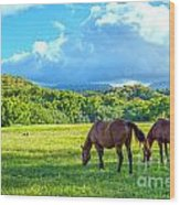 Grazing In Paradise Wood Print