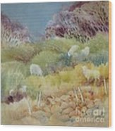 Grazing_in_the_grass Wood Print