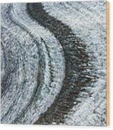 Great Aletsch Glacier Moraine Wood Print