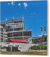 Great American Ball Park Wood Print