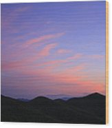 Great Balsam Mountains At Dusk - Blue Ridge Parkway Wood Print