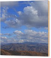 Great Balsam Mountains From Waterrock Knob Wood Print