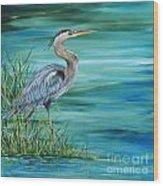 Great Blue Heron-2a Wood Print
