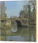 Great Bridge Warwick Wood Print
