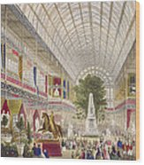 Great Exhibition, 1851 South Transept Wood Print