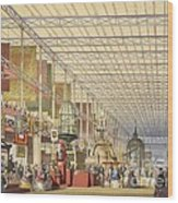 Great Exhibition Of 1851, British Nave Wood Print