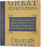 Great Expectations By Charles Dickens Book Cover Poster Art 1 Wood Print