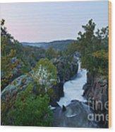 Great Falls Md Hdr 2 Wood Print