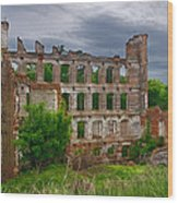 Great Falls Mill Ruins Wood Print