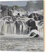 Great Falls Of The Potomac River Wood Print