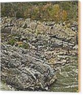 Great Falls Panorama Wood Print