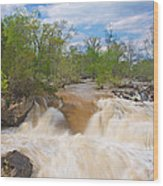 Great Falls White Water #5 Wood Print