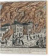 Great Fire Of New York, 1776 Wood Print by Science Photo Library