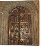 Great Hall Entrance Door Wood Print