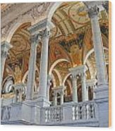 Great Hall Of The Library Of Congress  Wood Print