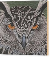 Great Horned Owl Wood Print