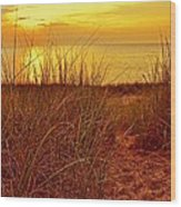 Great Lake Great Sunset 2 Wood Print