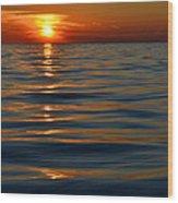 Great Lake Sunset Wood Print