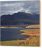 Lakes Of Ireland, Waterville, County Kerry Wood Print