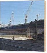 Great Lakes Ship Polsteam 4 Wood Print