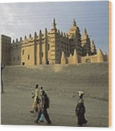 Great Mosque Of Djenn�. S.xiv. Mali Wood Print