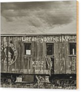 Great Northern Caboose Wood Print