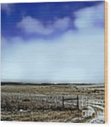 Great Plains Winter Wood Print