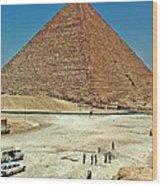 Great Pyramid Of Giza Wood Print