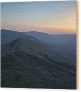 Great Ridge Sunset Wood Print