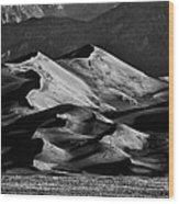 Great Sand Dune National Park At Sunrise Wood Print