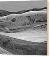 Great Sand Dunes - 1 - Bw Wood Print