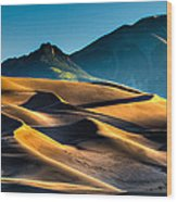 Great Sand Dunes At Dawn Wood Print