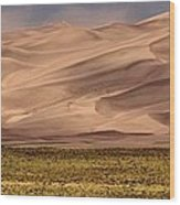 Great Sand Dunes In Colorado Wood Print