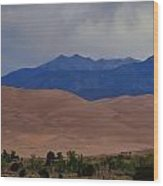 Great Sand Dunes National Park In Colorado Wood Print