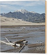 Great Sand Dunes Two Wood Print