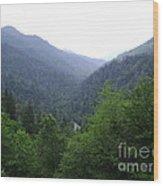 Great Smokey Mountains Wood Print