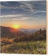 Great Smoky Mountains At Sunset Wood Print