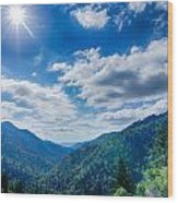 Great Smoky Mountains National Park On North Carolina Tennessee  Wood Print