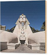 Great Sphinx Of Giza Luxor Resort Las Vegas Wood Print