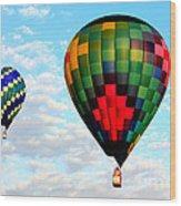 Great Texas Balloon Races Wood Print