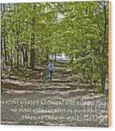 Great Treasures Wood Print by Sandra Clark