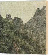 Great Wall 0043 - Colored Photo 2 Wood Print