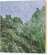 Great Wall 0043 -  Watercolor 2 Sl Wood Print