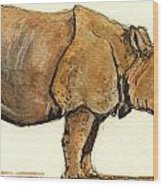 Greated One Horned Rhinoceros Wood Print